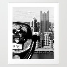 Viewing Pittsburgh Through the Looking Glass Art Print