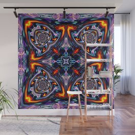Fire Grid Wall Mural