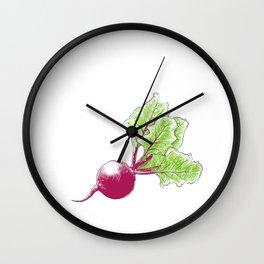 Beat Beet It Turnip Vegetable Vegetarian Gift Wall Clock