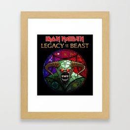 iron maiden legacy of the beast ori tour 2019 2020 mawar Framed Art Print