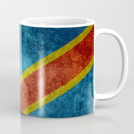 National flag of the Democratic Republic of the Congo, Vintage version (to scale) Coffee Mug