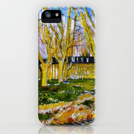 Avenue of Plane Trees near Arles Station, Vincent van Gogh iPhone Case