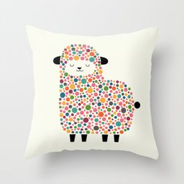 Bubble Sheep Throw Pillow