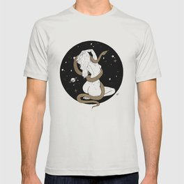 Space Goddess and the Golden Snake T-shirt