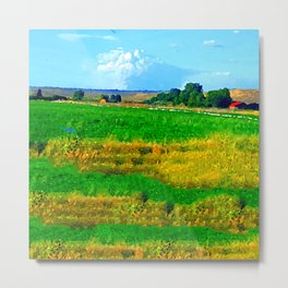 Nestled in the Valley:  Smoke on the Horizon Metal Print