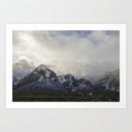 Snowy White Art Print