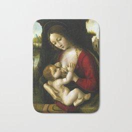 Bernardino dei Conti Madonna and Child Bath Mat