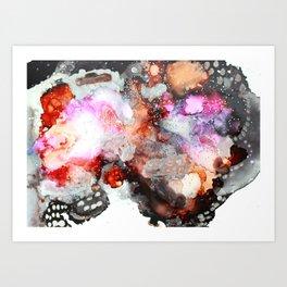 Monarch Mixed Media Abstract Painting Art Print