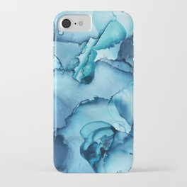 The Blue Abyss - Alcohol Ink Painting iPhone Case