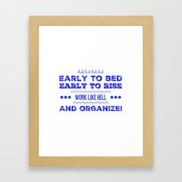Work & Organize Framed Art Print