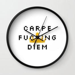 Carpe F*cking Diem Wall Clock
