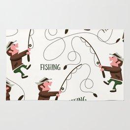 Fishing pattern of a fisherman Rug