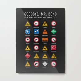 Goodbye, Mr. Bond Metal Print