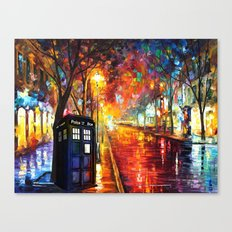 Tardis Full Color Canvas Print