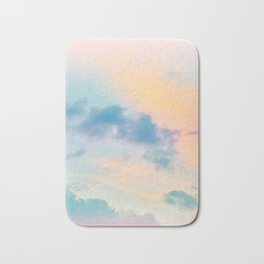 Unicorn Pastel Clouds #6 #decor #art #society6 Bath Mat