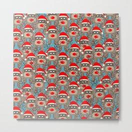Santa Reindeers Metal Print
