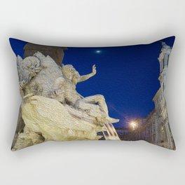 Fountain in Rome Rectangular Pillow