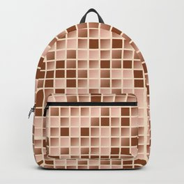 Micro squares pattern Backpack
