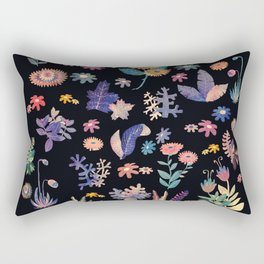 color flowers in the dark Rectangular Pillow