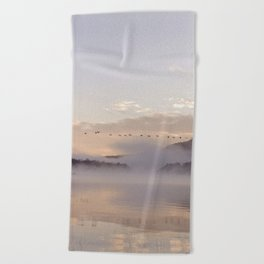 Into the Mists of Dawn Beach Towel