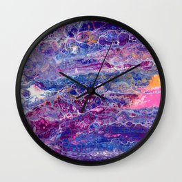 Psycho - Stream of Consciousness in Lively Color Flow by annmariescreations Wall Clock