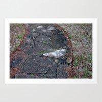 Contrast Sidewalk Art Print