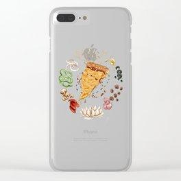 Pizza Mandala Clear iPhone Case