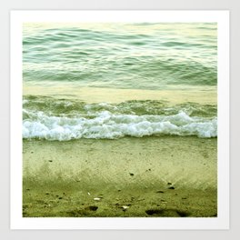 surf lace: gold variations Art Print