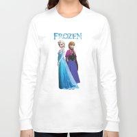duvet cover Long Sleeve T-shirts featuring Frozen anna elsa duvet cover by customgift