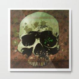floral skull Metal Print
