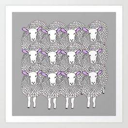 sheep print Art Print