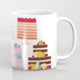 Birthday, valentine's day, wedding, engagement. Set sweet cake, fruits, berries Coffee Mug