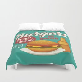 Burgers and Booze Duvet Cover