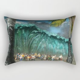 Tsunami Monument Rectangular Pillow