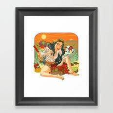 Agar Lady Framed Art Print