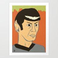 spock Art Prints featuring Spock by Arlin Ortiz