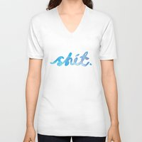 shit V-neck T-shirts featuring Shit. by CaptClare