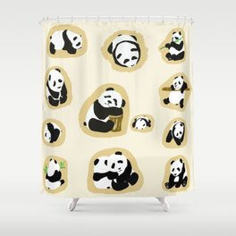 Panda Shows Shower Curtain