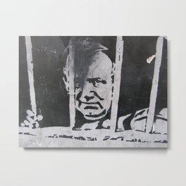 PRISONER GRAFFITI Metal Print