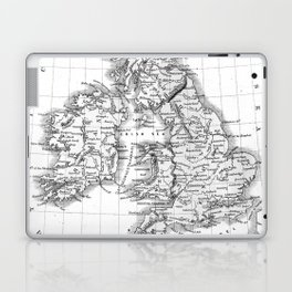 Vintage Map of The British Isles (1864) BW Laptop & iPad Skin