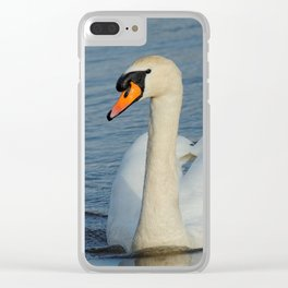 Elegant Mute Swan in the Harbor Clear iPhone Case