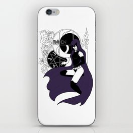 Dark Titan Raven Color Splash iPhone Skin