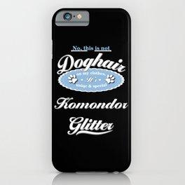 Dog Glitter Komondor iPhone Case