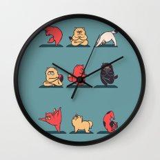 Cat Yoga Wall Clock