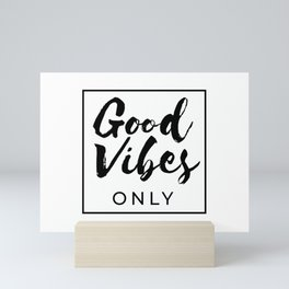 Good Vibes Only Peace Love Mini Art Print