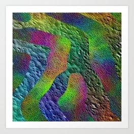 Texture Flower II Art Print