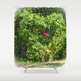 Heart Bush Shower Curtain