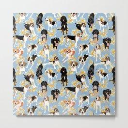 Coonhound Spring Pattern Metal Print