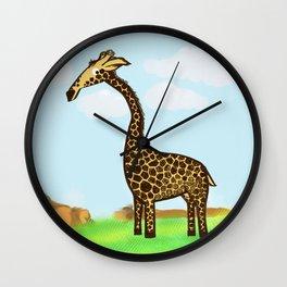 Giraffee  Wall Clock
