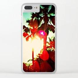 Sun Spot Clear iPhone Case